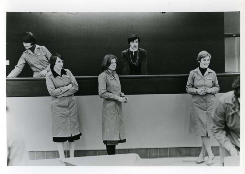 SA/SUB/SBHS/A-Z/W/IMA/1/12 - Photograph of female checkout supervisors at Savacentre Washington
