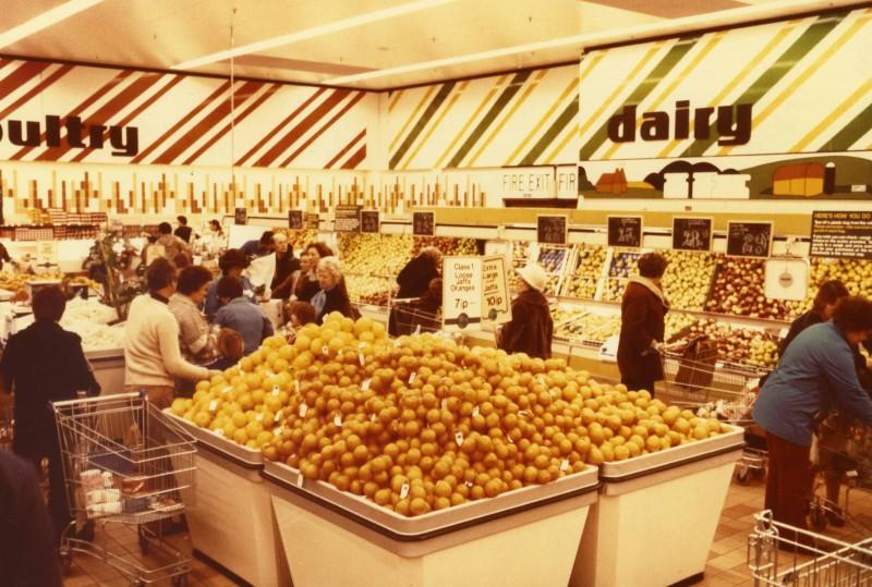SA/SUB/SBHS/A-Z/W/IMA/1/19 - Photograph of fruit display showing oranges [at Washington SavaCentre store]